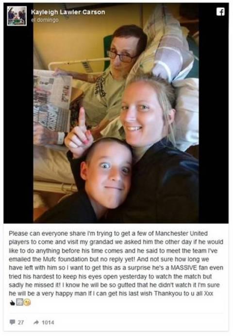 El mensaje de Kayleigh Lawler, la nieta de Paddy.