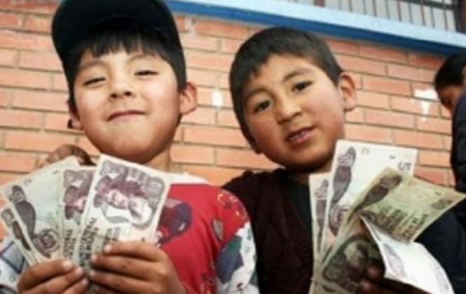 El bono Juancito Pinto se pagará desde el 17 de octubre a los colegiales