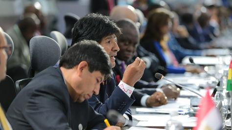 El presidente Evo Morales participa de la plenaria de la XVII Cumbre del Movimiento de Países No Alineados (MNOAL)