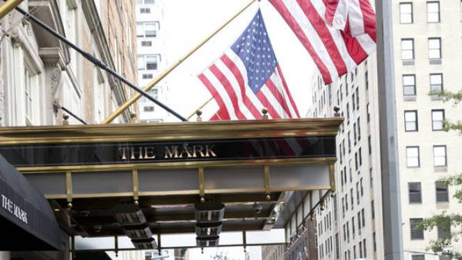 Presidente Mauricio Macri junto a su esposa, la primera dama, Juliana Awada entrando al hotel The Mark en la calle 77 entre la avenida Madison y la 5ta ave de Nueva York.  18 de septembre 2016. Adriana Groisman