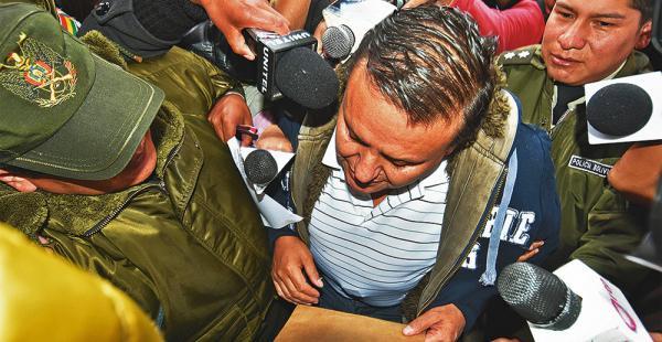 Marco Cámara, propietario del club nocturno Katanas, fue trasladado ayer a la cárcel de San Pedro