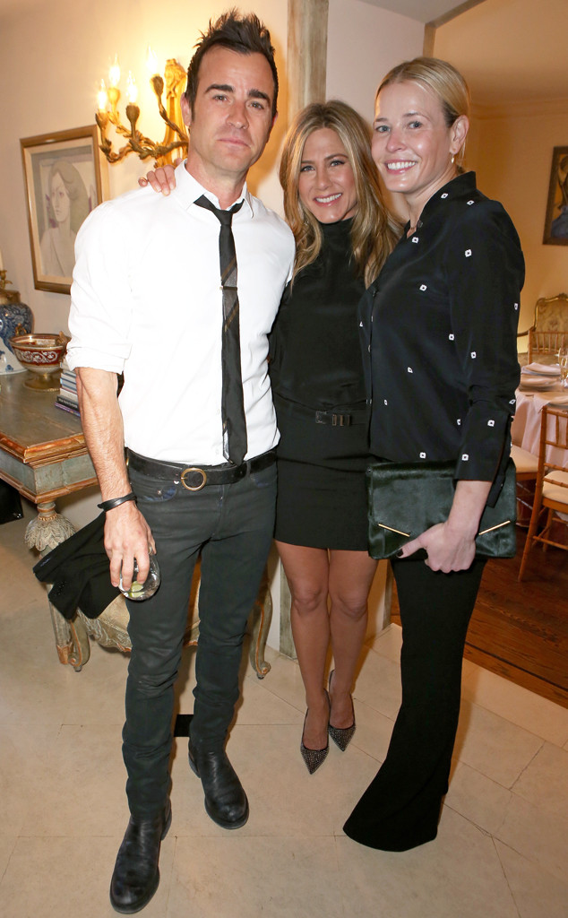 Justin Theroux, Jennifer Aniston, Chelsea Handler