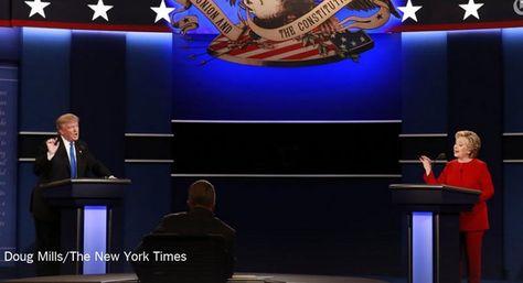 HillaryClinton y Donald Trump en el primer debate hacia las elecciones