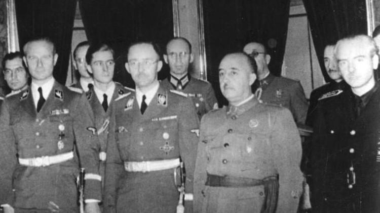 El dictador Francisco Franco junto a Heinrich Himmler en octubre de 1940