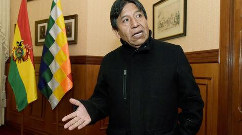 El canciller David Choquehuanca