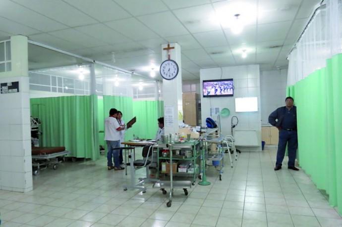 PREMURA. La paciente fue trasladada a Emergencias del hospital Santa Bárbara.