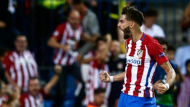 Carrasco celebra su gol