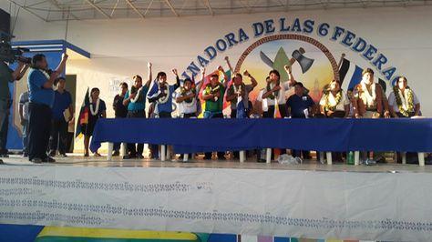 El presidente Evo Morales fue ratificado como ejecutivo de las 6 federaciones del Trópico. Foto: Benito Nuñez