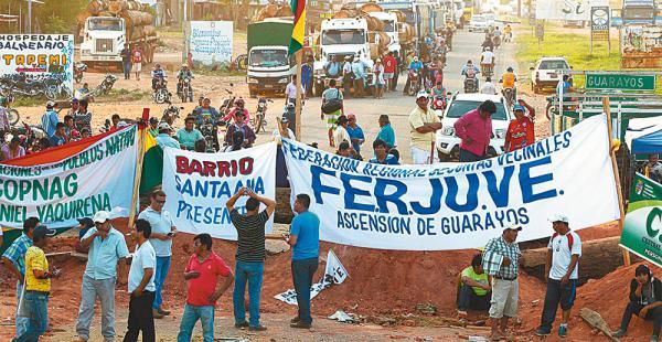 Los pobladores exigen que el gobernador en persona vaya a Ascensión para dialogar