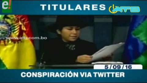 Titulares de TV: Ministra de Comunicación denuncia que la oposición conspira mediante tuits