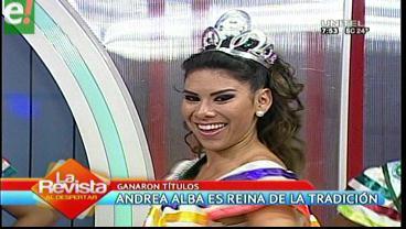 Andrea Alba es la Reina de la Tradición Cruceña