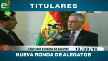 Titulares de TV: Agentes de Bolivia y Chile se reunieron en La Haya para definir una segunda ronda de alegatos escritos