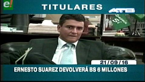 Titulares de TV: Contraloría emplaza a Suárez a pagar Bs. 6 millones