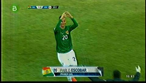 Escobar abre el marcador: Bolivia 1-0 Perú