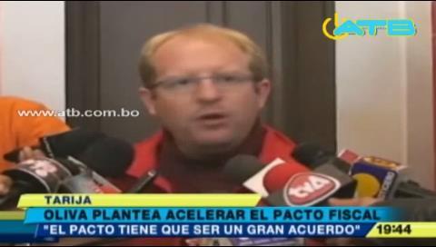Gobernador Oliva pide acelerar debate sobre pacto fiscal