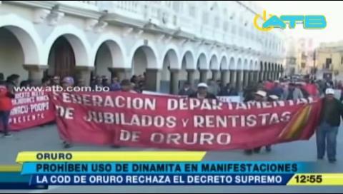 COD de Oruro rechaza prohibición de uso de dinamita
