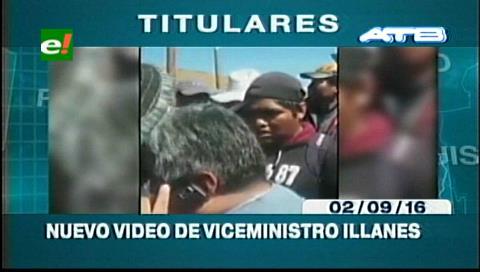 Titulares de TV: Circula un nuevo video de Illanes rodeado de mineros y hablando por celular con el ministro Romero
