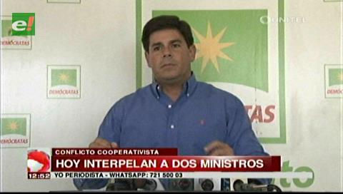 """Senador Klinsky: """"Exclusión de Quintana en interpelación muestra división del MAS"""""""