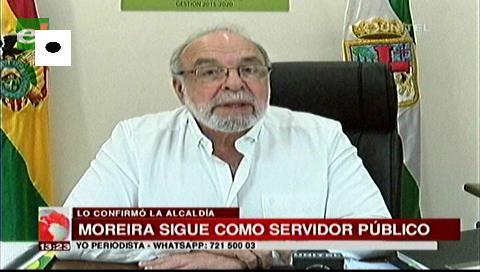 Moreira sigue siendo servidor público hasta que Percy defina su situación