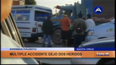 Conductor del camión que causó múltiple colisión se dio a la fuga