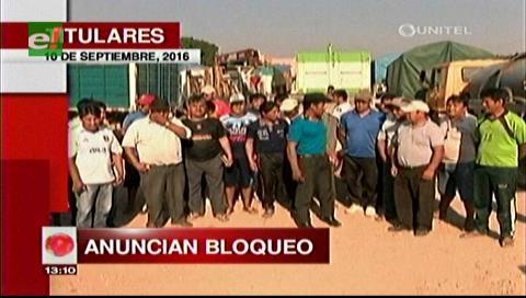 Titulares de TV: Transporte pesado anuncia bloqueo de carreteras a partir del lunes