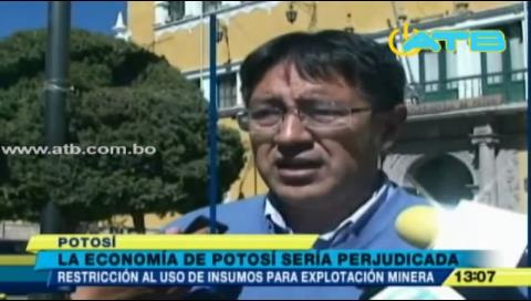 Restricción a uso de insumos en minería afectará la economía de Potosí
