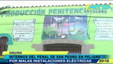Reo muere electrocutado en penal de San Pedro en Oruro