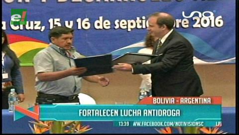 Encuentro: Bolivia y Argentina fortalecen lucha antidroga