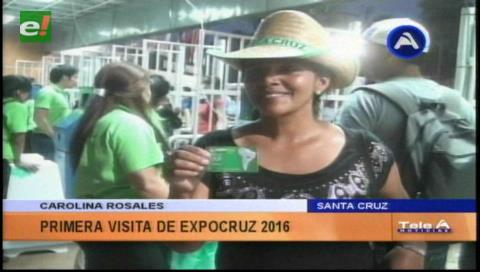 Arrancó la Expocruz 2016: Carolina Rosales fue la primera en ingresar al Campo Ferial