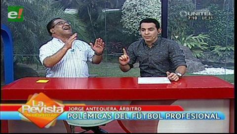 """Análisis arbitral: Vea la divertida entrevista de Ronico al """"profe"""" Antequera"""