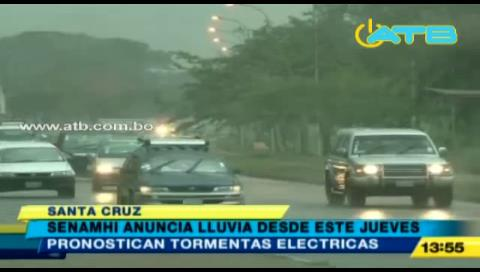Senamhi pronostica lluvias para el fin de semana en Santa Cruz