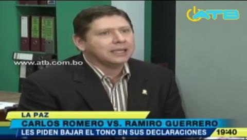 """Oposición pide """"bajar el tono"""" a Romero y Guerrero"""