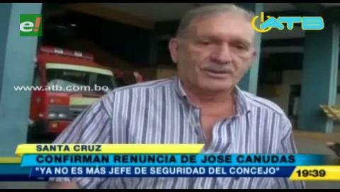 Santa Cruz: Confirman renuncia del Jefe de Seguridad del Concejo Municipal