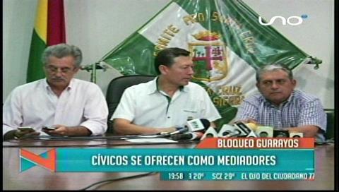 Comité Cívico y CAO desaprueban bloqueo de Guarayos y reportan pérdidas