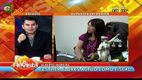 Moreira afirma que Flores se presentó como fiscal y que estuvo en operativo