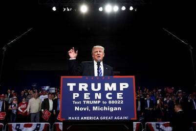 Donald Trump en un acto de campaña. REUTERS/Jonathan Ernst