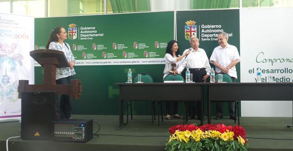 Carmelo Caballero, expresidente de la extinta Cordecruz, y Carlos Dabdoub fueron reconocidos en el acto
