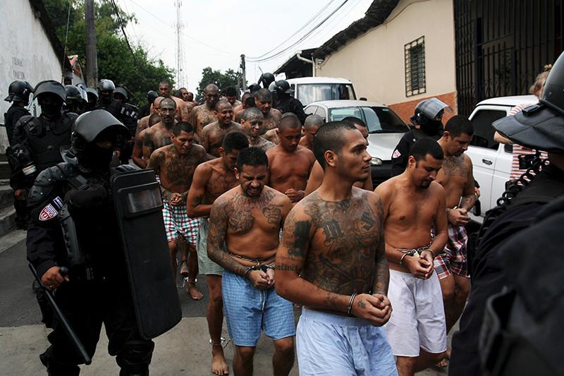 Miembros de la Mara Salvatrucha capturados por la Policía salvadoreña