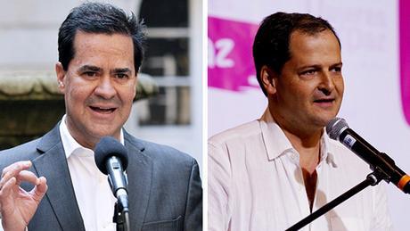 Bildkombi Kolumbianische Regierungsvertreter