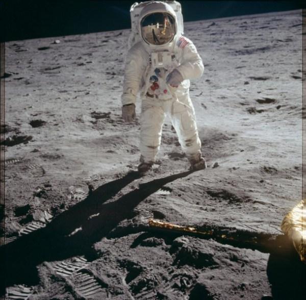 El astronauta Aldrin durante la misión Apolo 11. Reuters | NASA