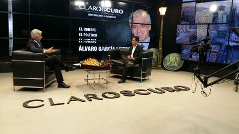 El vicepresidente Álvaro García en la entrevista en la red RTP