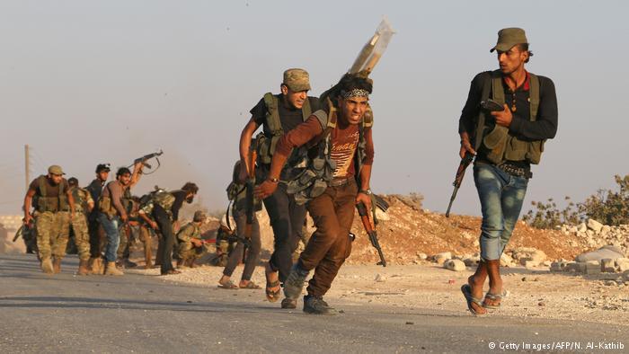 Syrien Gefechte um Dabiq (Getty Images/AFP/N. Al-Kathib)