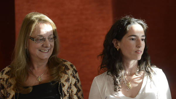 Alicia Kirchner junto a Rocío García en Río Gallegos.