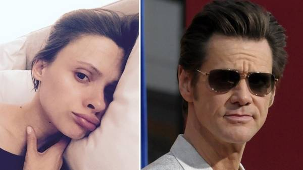 Cathriona White y Jim Carrey.