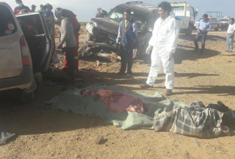Así fueron evacuadas las víctimas del accidente en Oruro.