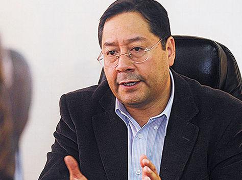 El ministro de Economía, Luis Arce, en una pasada entrevista. Foto: La Razón - archivo