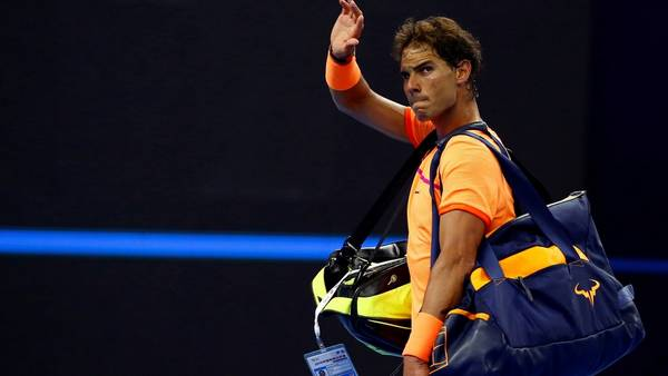Chau. Rafael Nadal disputó su último partido de 2016 la semana pasada ante Viktor Troicki. (REUTERS / Thomas Peter)