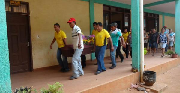 El entierro de las víctimas se realizó en el cementerio municipal de San Matías