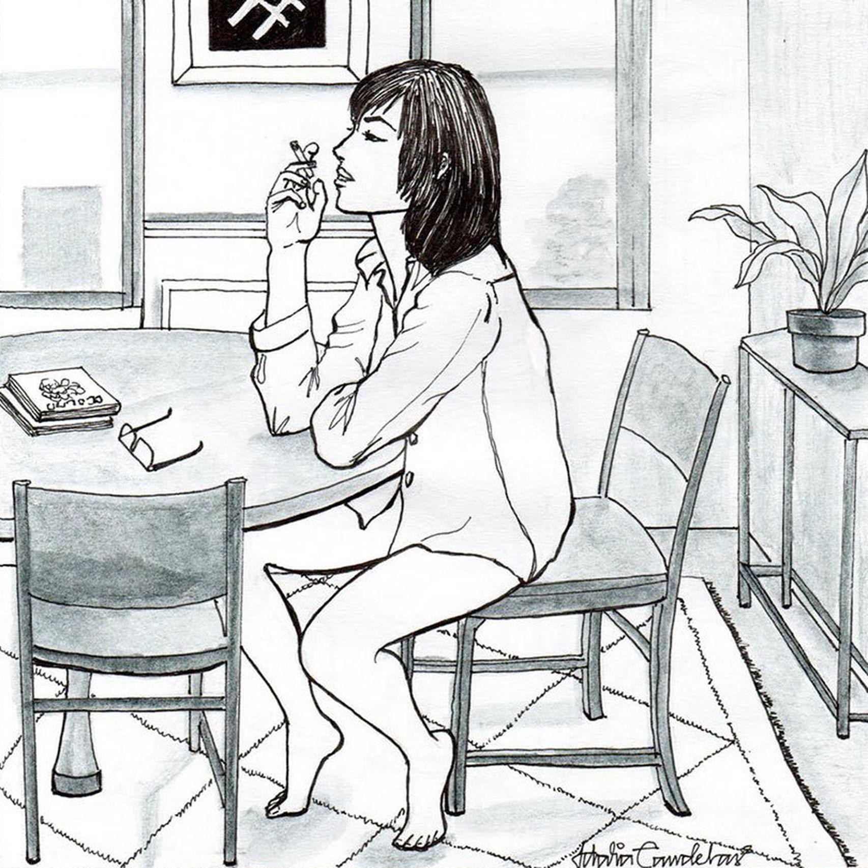 Ilustración de A solas, de Idalia Candelas.