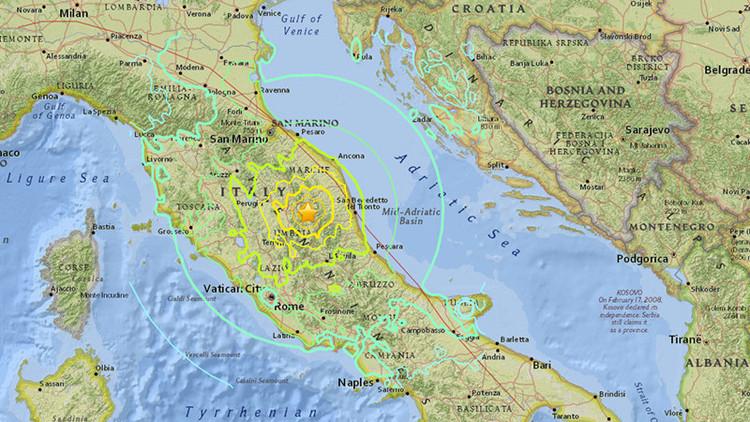 Resultado de imagen para Un nuevo fuerte sismo de magnitud 6,1 sacude el centro de Italia